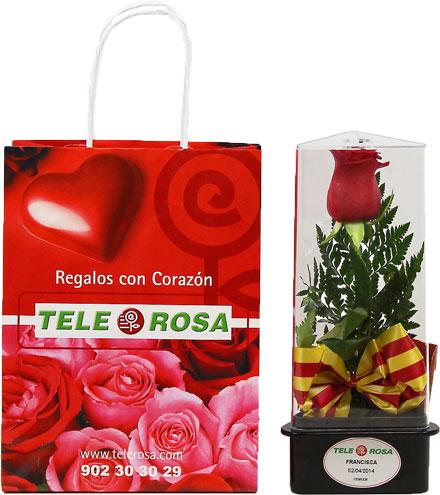 Sant Jordi, 23 de Abril, un libro y una rosa de Telerosa