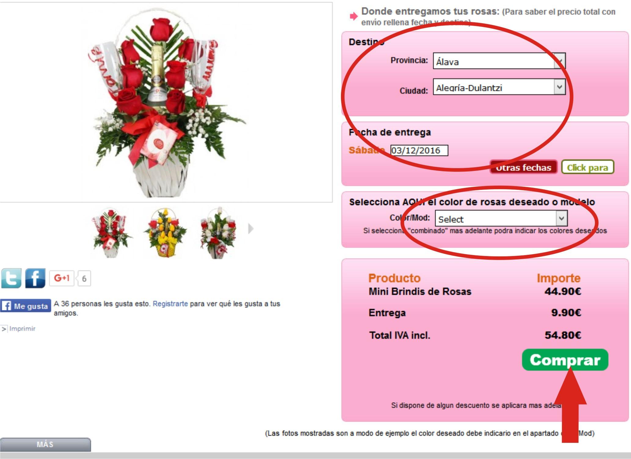 paso 4 como realizar un pedido de flores