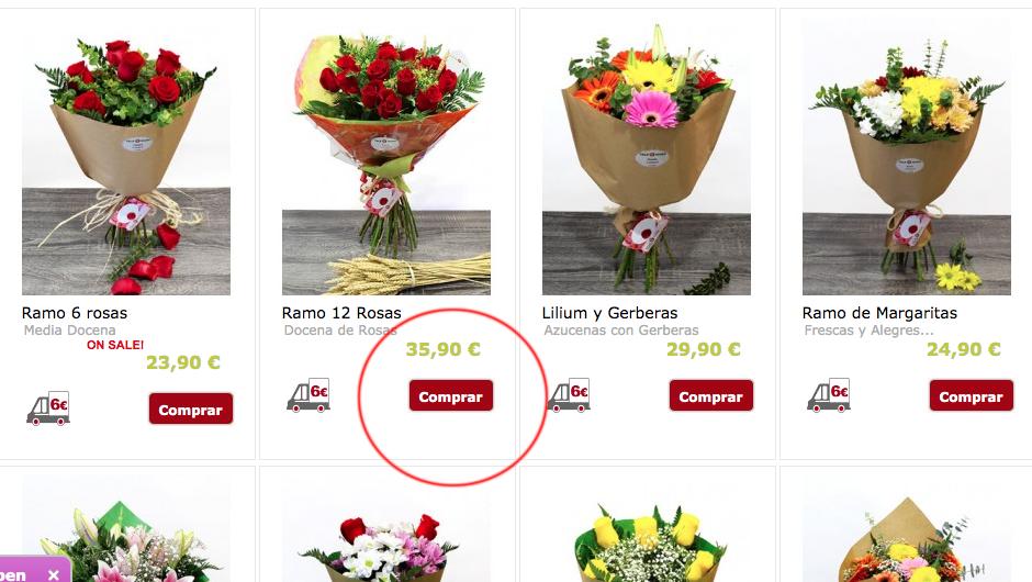 paso 3 como realizar un pedido de flores