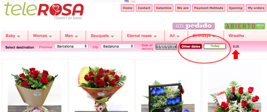 STEP 2 HOW TO ORDER FLOWERS